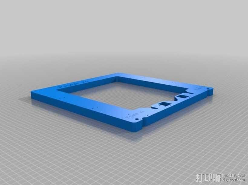 prusa i3打印机的框架结构 3D模型  图1