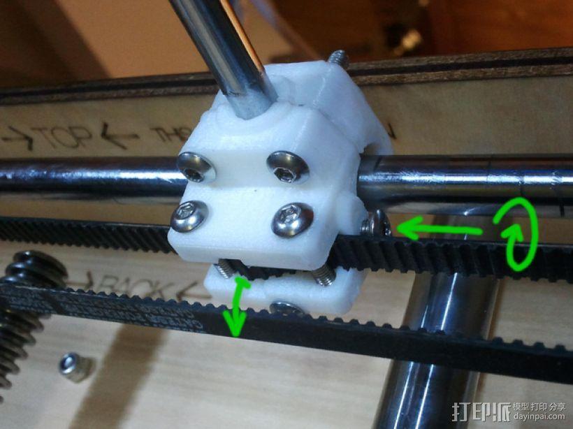 轴杆套管 皮带张紧器 3D模型  图1