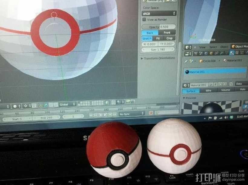 口袋妖怪球 精灵球 3D模型  图4