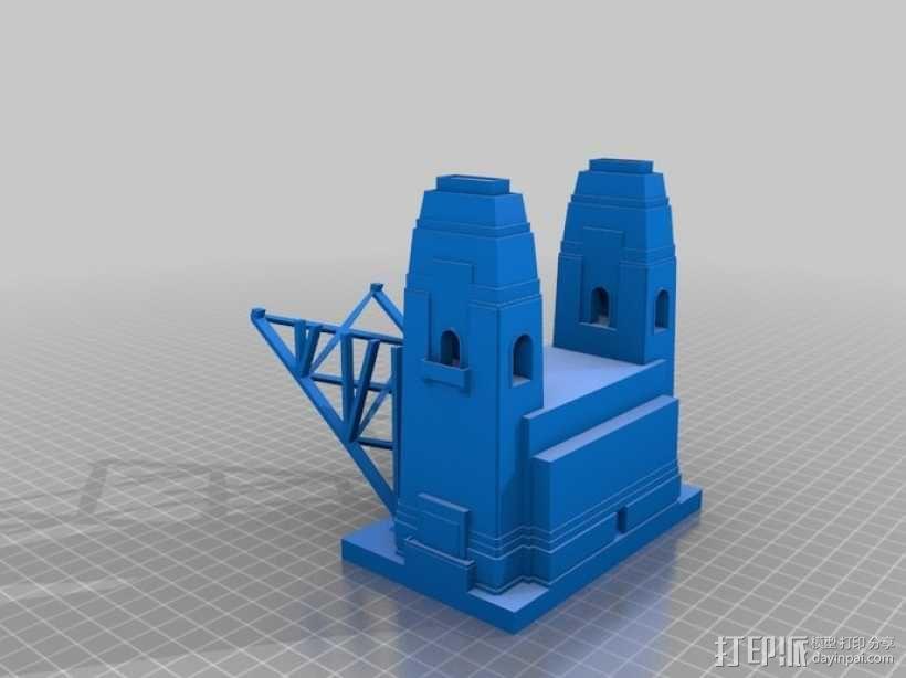 悉尼大桥 3D模型  图1