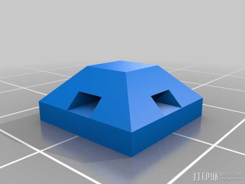 束线带支架 3D模型  图1