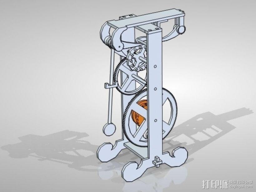 伽利略的摆钟 3D模型  图1