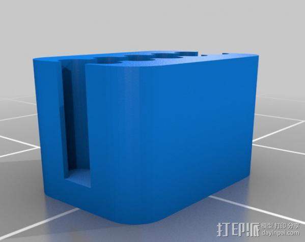 GT2皮带夹 3D模型  图3