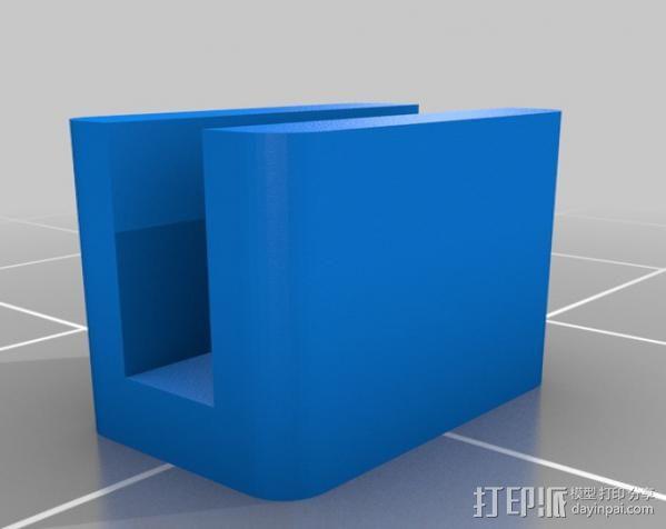 GT2皮带夹 3D模型  图2