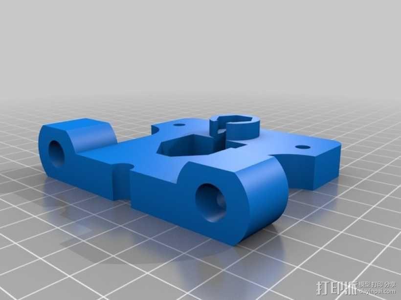 prusa打印机的鲍登挤出机支架 3D模型  图1