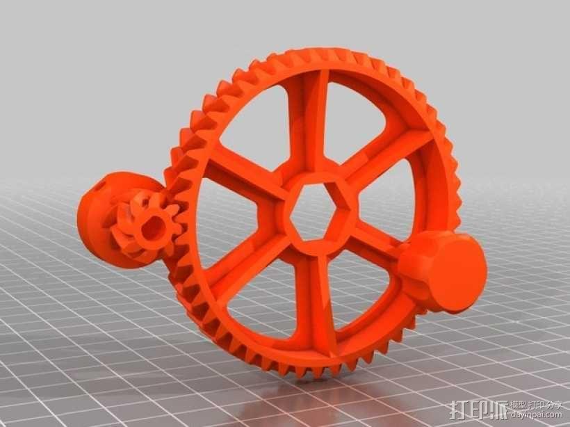 Ultimaker 打印机送料器齿轮 3D模型  图1