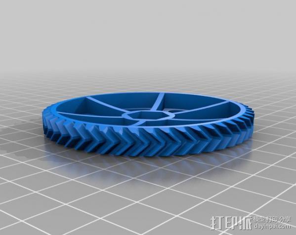 Ultimaker 打印机送料器齿轮 3D模型  图3