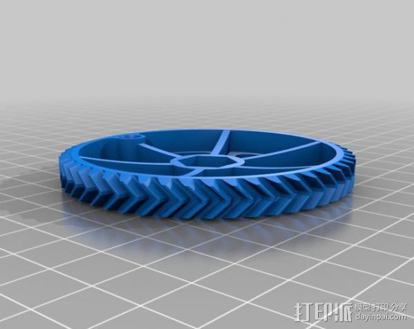 Ultimaker 打印机送料器齿轮 3D模型  图2