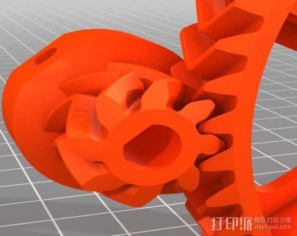 Ultimaker 打印机送料器齿轮 3D模型  图4