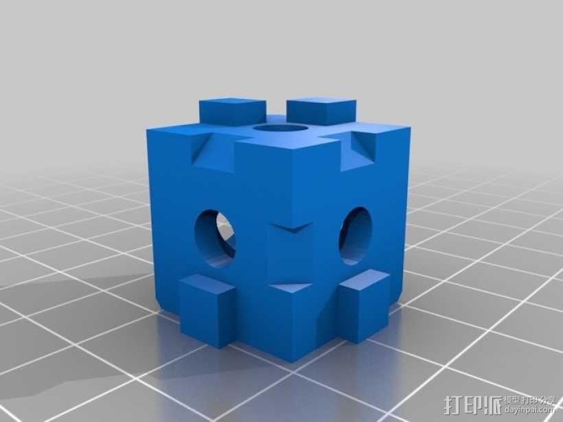 打印机拐角连接器 3D模型  图1