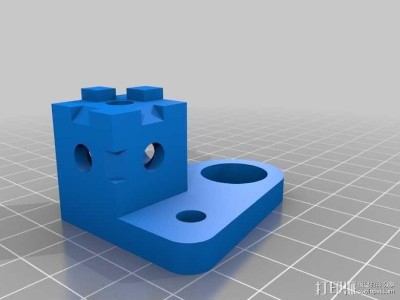 打印机拐角连接器 3D模型  图2