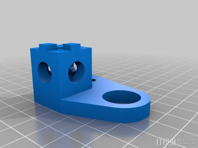 打印机拐角连接器 3D模型  图3