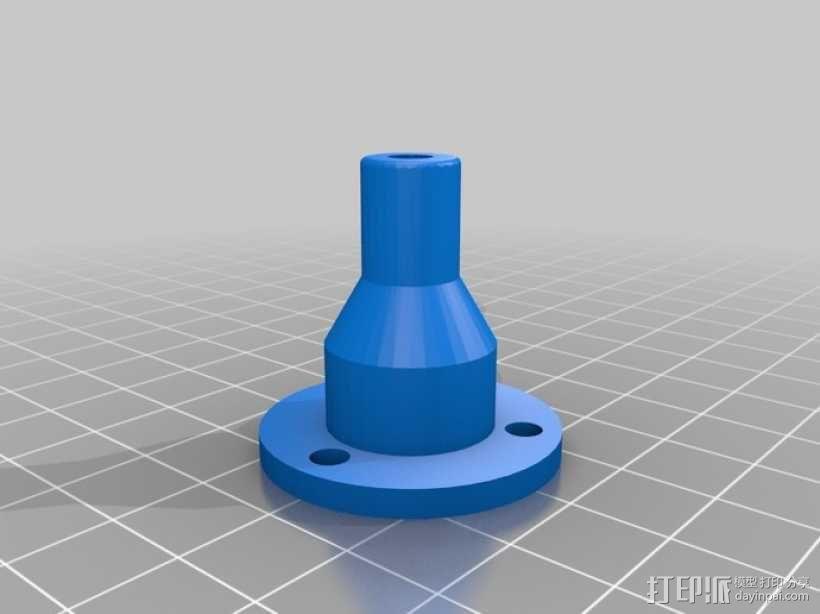 打印机拐角连接器 3D模型  图4