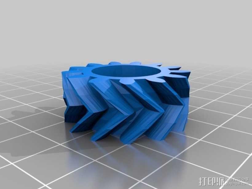 挤出机齿轮 行星齿轮 3D模型  图3