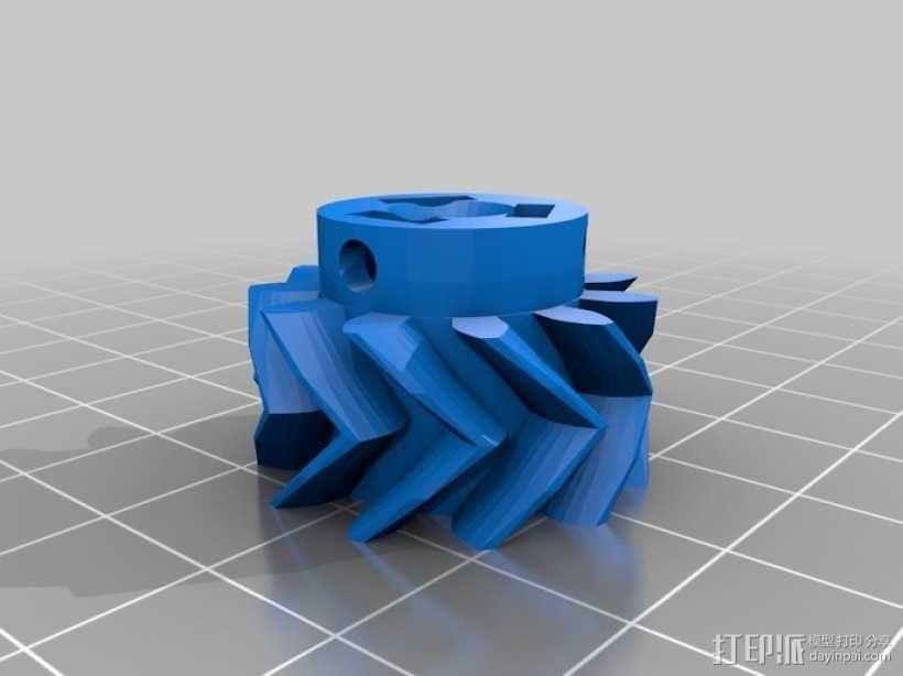 挤出机齿轮 行星齿轮 3D模型  图5