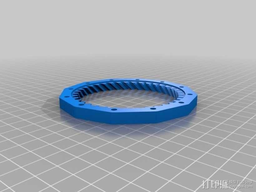 挤出机齿轮 行星齿轮 3D模型  图7