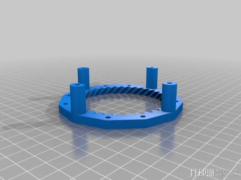 挤出机齿轮 行星齿轮 3D模型  图6