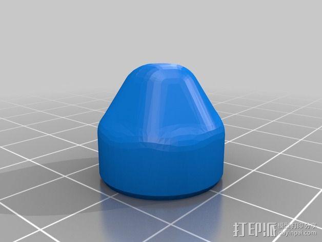 螺母盖 3D模型  图2