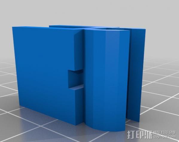 打印机热床电缆夹 3D模型  图2