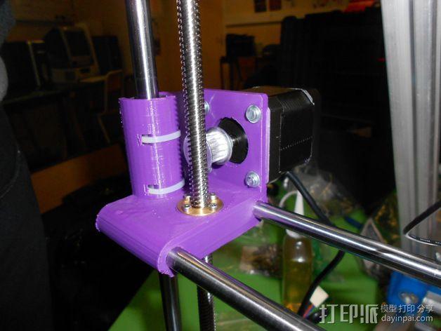 打印机X轴螺丝钉和轴承连接器 3D模型  图3