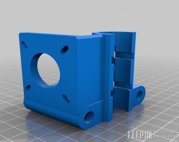 打印机X轴螺丝钉和轴承连接器 3D模型  图2