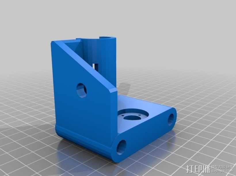 打印机X轴螺丝钉和轴承连接器 3D模型  图1