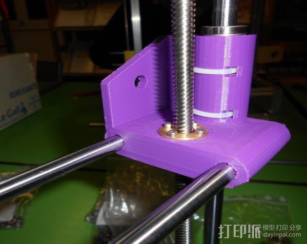 打印机X轴螺丝钉和轴承连接器 3D模型  图4