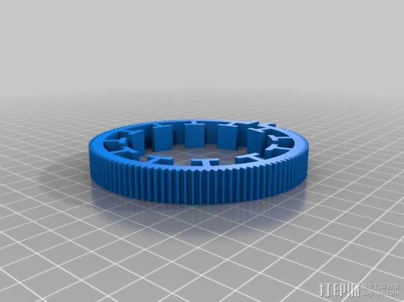 跟焦齿轮 3D模型  图1