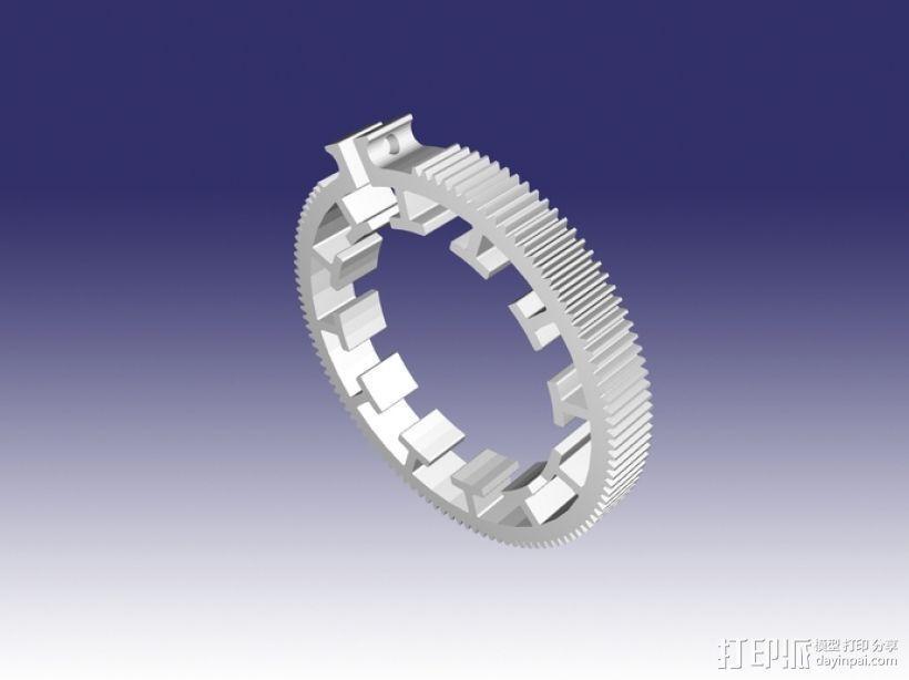 跟焦齿轮 3D模型  图3