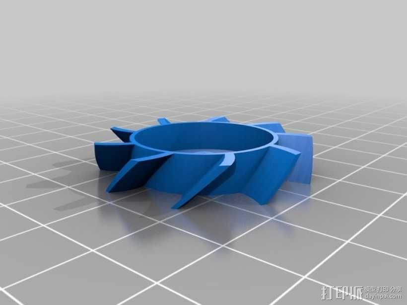 40毫米的风扇 3D模型  图1