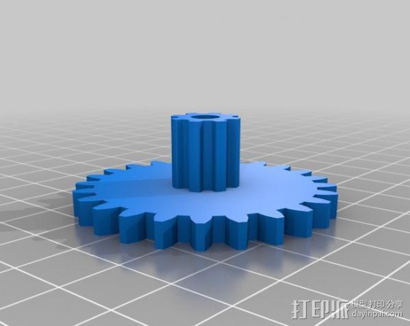 减速齿轮 3D模型  图1