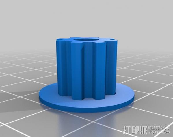 减速齿轮 3D模型  图3