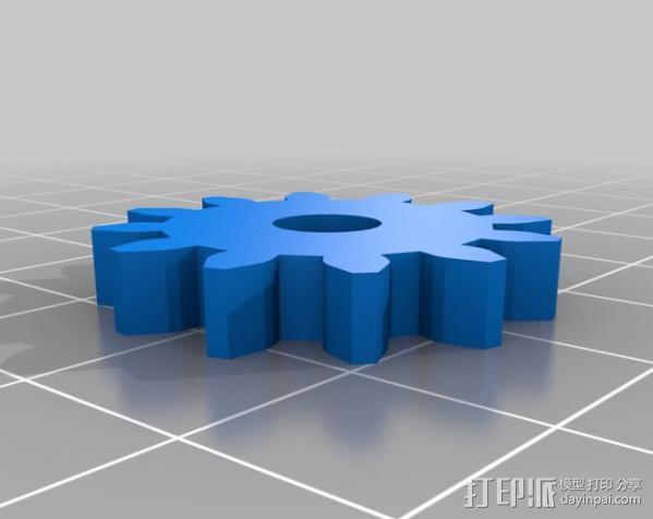 减速齿轮 3D模型  图4
