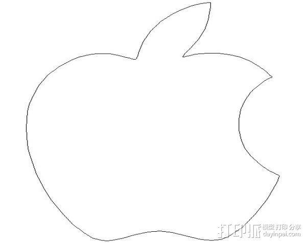 饼干切割器 苹果 3D模型  图4
