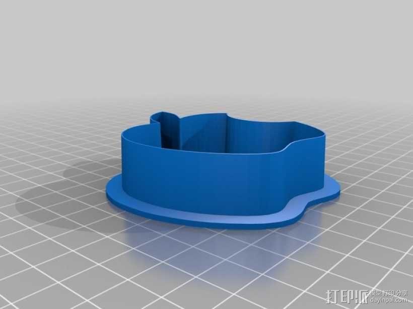 饼干切割器 苹果 3D模型  图1