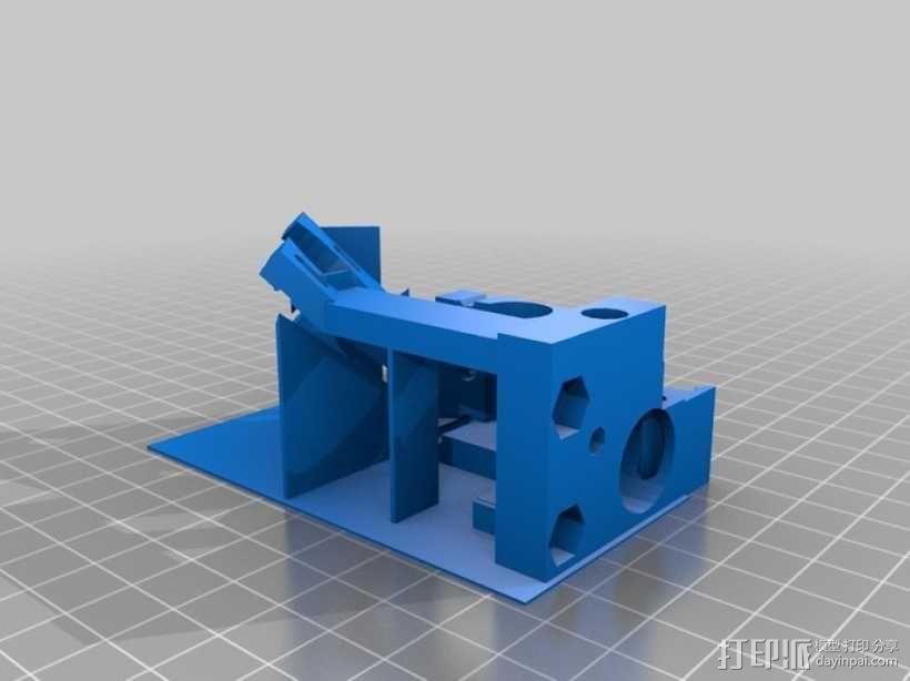 双喷头挤出机马达支架 3D模型  图1