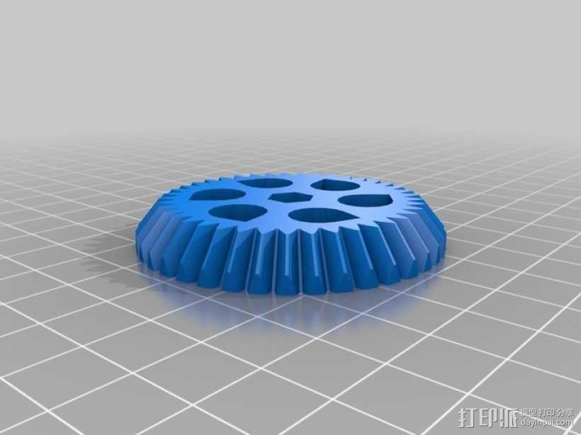 双喷头挤出机马达支架 3D模型  图2