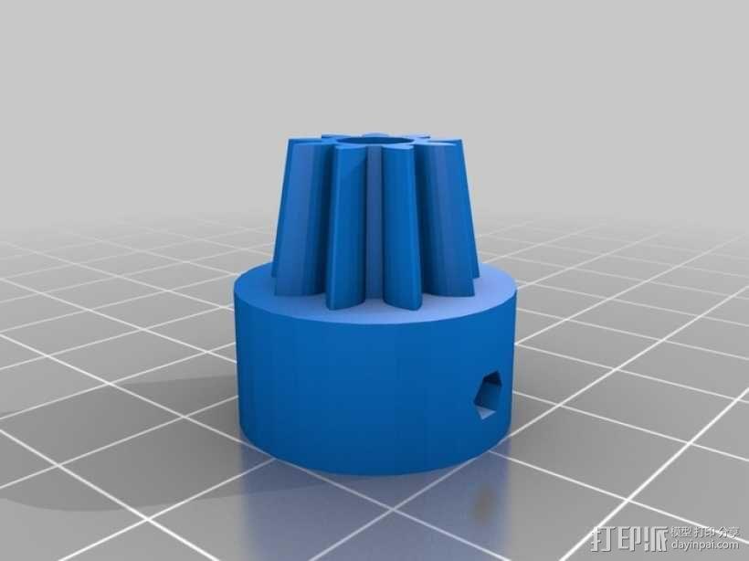 双喷头挤出机马达支架 3D模型  图3