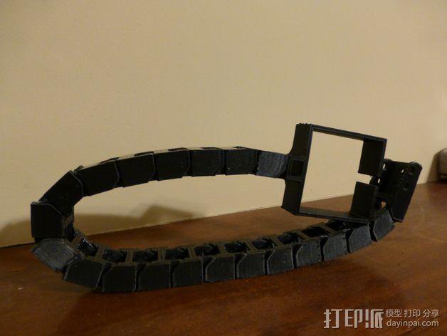 步进电机电缆锚链 3D模型  图1