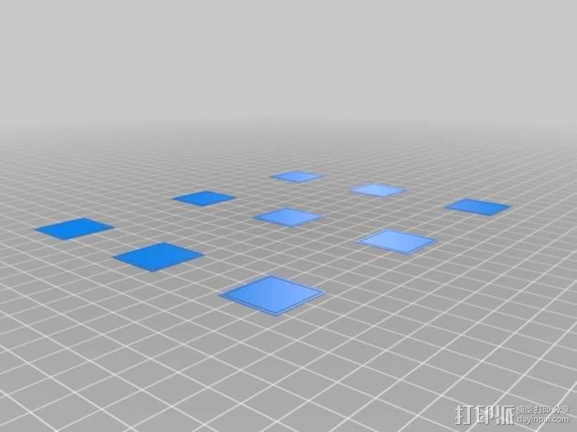 打印床调平测试 3D模型  图1