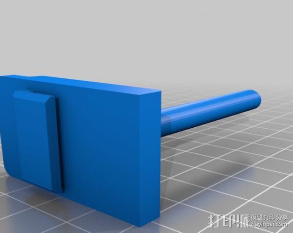 滚珠轴承线轴支架 3D模型  图5