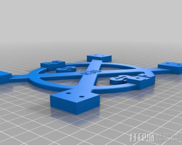 Mendel打印机Y轴部件 3D模型  图1