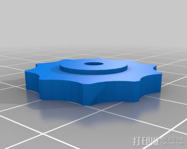 Mendel打印机Y轴部件 3D模型  图3
