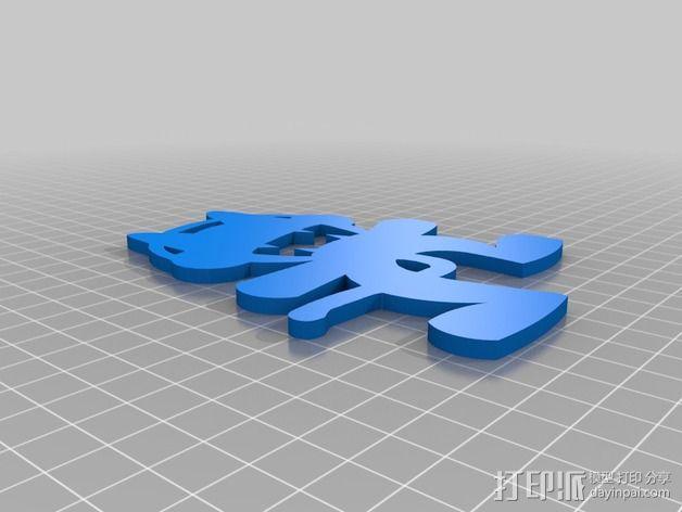 怪物猫 3D模型  图1