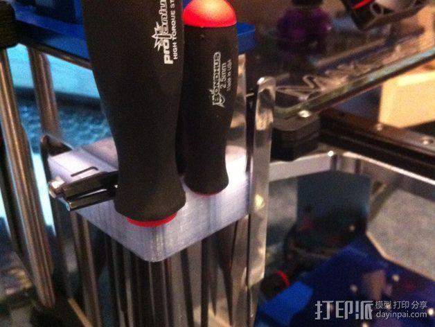 Makergear M2打印机的工具架 3D模型  图2