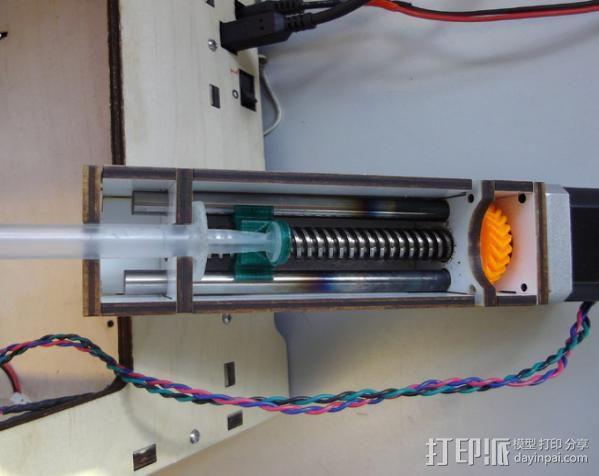 鲍登注射器挤出机 3D模型  图2