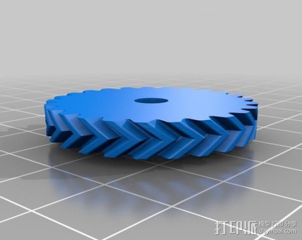 鲍登注射器挤出机 3D模型  图6