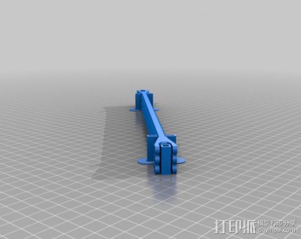 Rostock 打印机轴杆 3D模型  图2