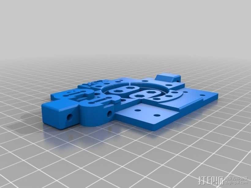 打印机X轴部件 轴承支架 3D模型  图1