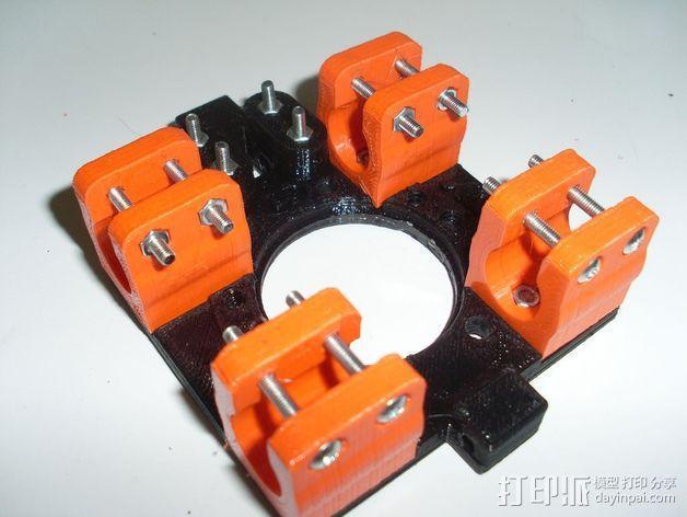 打印机X轴部件 轴承支架 3D模型  图2